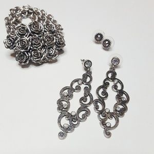 Brighton Jewelry Earrings and Bracelet Bundle
